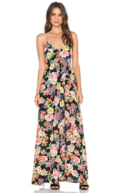 Lucca Couture Floral Maxi Dress in Black Multi