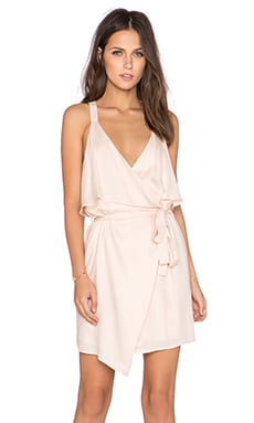 Lucca Couture x REVOLVE Ruffle Front Wrap Dress in Blush