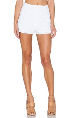 Lucca Couture High Waist Short in White