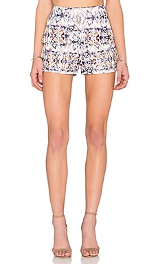 Mixed Kaleidoscope Short in White & Lavender