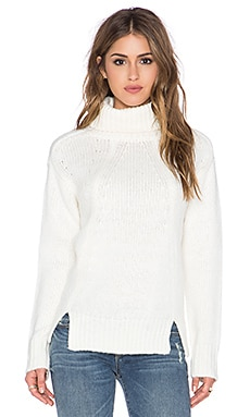 Lucca Couture Turtleneck Sweater in Ivory