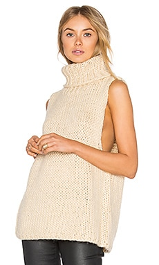 Mara Sweater Vest in Biscuit