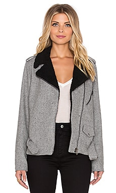 Lucca Couture Moto Jacket in Grey and Black