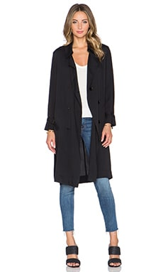 Lucca Couture Trench Coat in Black