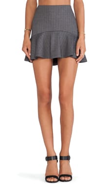 Lucca Couture Flutter Hem Skirt in Grey