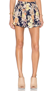 Lucca Couture Mini Skirt in Navy Floral