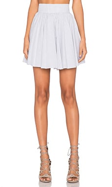 Lucca Couture Skater Skirt in White & Black Pinstripe