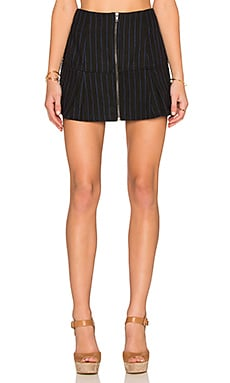 Lucca Couture Stripe Mini Skirt in Black and Navy