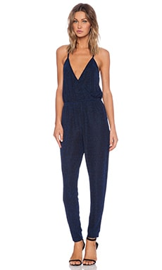 Lucca Couture Cross Front Jumpsuit in Electric Blue