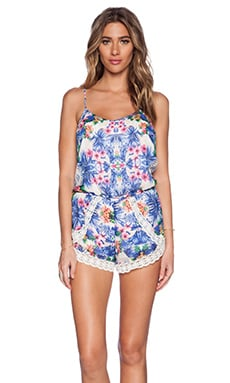 Romper in Blue Tropical