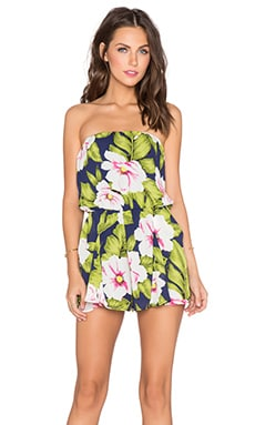 Lucca Couture Tropical Romper in Navy