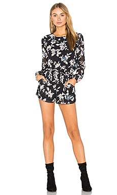 Theresa Romper in Black Floral