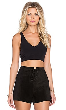 Racerback Crop Top in Black