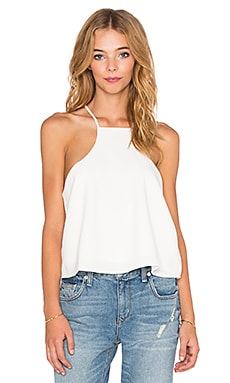 Lucca Couture Razor Front Tank in White