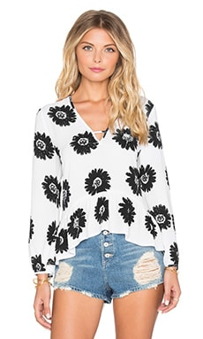 Lucca Couture Sunflower Top in Black & White