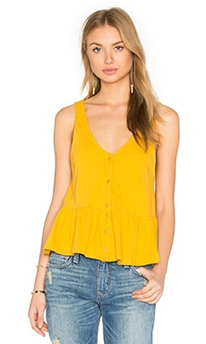 Lucca Couture Button Front Tank in Mango