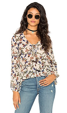 Kylie Top in Beige Floral