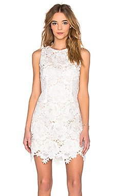Covergirl Dress in White & Cream