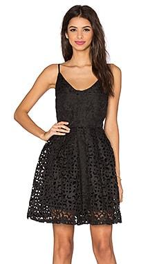 Lucy Paris Laser Cut Dress in Black