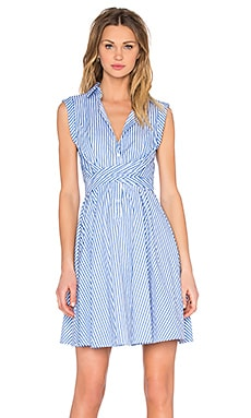 Lucy Paris Button Up Dress in Pinstripe