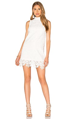 Lucy Paris Babydoll Dress in White Lace