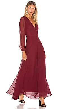 Carolina Maxi Dress in Raisin