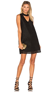 Alexa V Neck Dress in Black