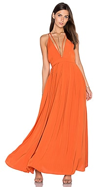Celine Maxi Dress in Burnt Orange