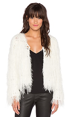 Lucy Paris Kate Fringe Cardigan in Cream