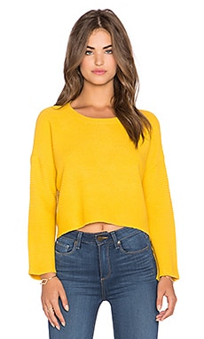 Hi-Lo Crop Sweater in Mustard