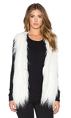 Lucy Paris Faux Fur Shag Perfect Vest in White