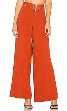 Lucy Paris Stella Belted Pant in Red