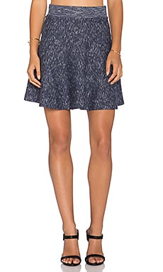 Lucy Paris Vassar Flare Skirt in Blue