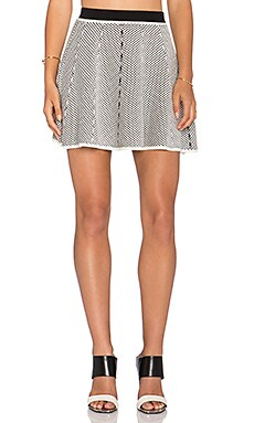 Lucy Paris Polka Dot Skater Skirt in Black & White