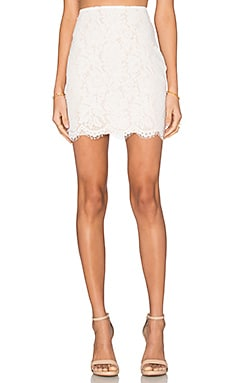 Lucy Paris Bradshaw Pencil Skirt in White