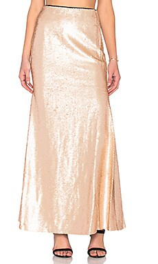 Lucy Paris Sequin Mermaid Maxi Skirt in Champagne
