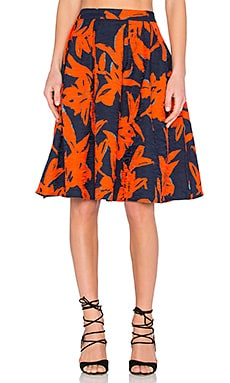 A Line Skirt in Abstract Floral