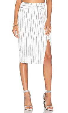 Lucy Paris Pencil Skirt in Skinny Stripe