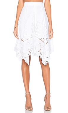 Lucy Paris x REVOLVE Crochet Skirt in White Handkerchief