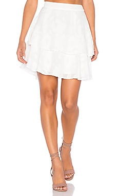 Lucy Paris Rose Burnout Skirt in White
