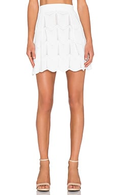 Lucy Paris Seashell Scallop Skirt in White