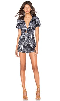 V Romper in Botanical