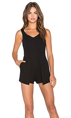 Lucy Paris Say It Ain't So Romper in Black