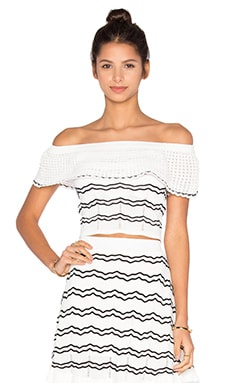 Lucy Paris Knit Striped Top in Black & White