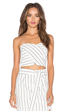 Lucy Paris Bandeau Top in Skinny Stripe