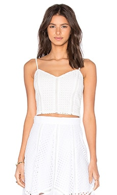 x REVOLVE Cropped Cami Top in White Handkerchief
