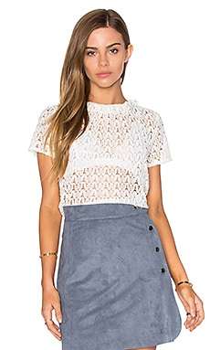 Lace Frilling Top