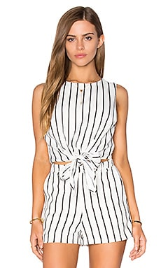 Lucy Paris Tie Front Top in Stripe