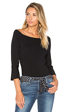Lucy Paris Elle Off the Shoulder Top in Black