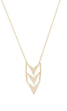 Lucky Star Boomerang Necklace in Gold